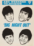 Music Memorabilia:Memorabilia, Beatles Big Night Out Television Pamphlet (UK, 1964). Rare....