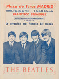 Music Memorabilia:Memorabilia, Beatles Spanish Concert Program (1965)....