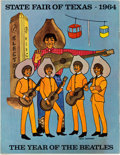 Music Memorabilia:Memorabilia, Beatles - State Fair of Texas Souvenir Program Featuring the FabFour on Back Cover (1964)....