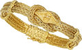 Estate Jewelry:Bracelets, Victorian Gold Bracelet. ...