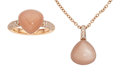 Estate Jewelry:Suites, Chalcedony, Diamond, Rose Gold Jewelry Suite, Bucherer . ...(Total: 2 Items)