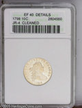 Early Dimes: , 1798 10C Large 8--Cleaned--ANACS. XF Details. JR-4, R.3.Distinguished by the small 7 and large 8 in the date, and fiveber...