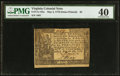 Colonial Notes:Virginia, Virginia May 4, 1778 (Dates Printed) $3 PMG Extremely Fine 40.. ...