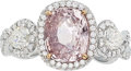 Estate Jewelry:Rings, Padparadscha Sapphire, Diamond, White Gold Ring . ...