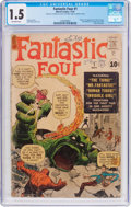 Silver Age (1956-1969):Superhero, Fantastic Four #1 (Marvel, 1961) CGC FR/GD 1.5 Off-white pages....