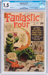 Fantastic Four #1 (Marvel, 1961) CGC FR/GD 1.5 Off-white pages