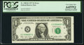 Error Notes:Miscellaneous Errors, Misaligned Face Printing Error Fr. 1909-K $1 1977 Federal Reserve Note. PCGS Very Choice New 64PPQ.. ...