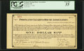 Obsoletes By State:Oregon, Portland, OR- Portland Clearing House Association $1 Nov. 2, 1907 Shafer OR575-1a.. ...
