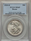 Commemorative Silver, 1935-D 50C Boone MS65 PCGS. PCGS Population: (343/128). NGC Census: (260/94). CDN: $170 Whsle. Bid for problem-free NGC/PCG...