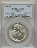 Commemorative Silver, 1935-D 50C Boone MS64 PCGS. PCGS Population: (443/471). NGC Census:(269/354). CDN: $130 Whsle. Bid for problem-free NGC/PC...