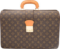 "Louis Vuitton Classic Monogram Canvas Serviette Fermoir Bag Very Good Condition 16"" Width x 11"" Height x 6&quo..."
