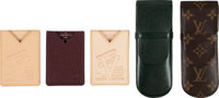 "Louis Vuitton Set of Five; Card Holders & Eyeglass Cases Excellent Condition 2.5"" Width x 6.5"" Le"