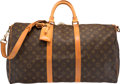 "Luxury Accessories:Travel/Trunks, Louis Vuitton Classic Monogram Canvas Keepall 50 Bandouliere Bag.Very Good Condition. 20"" Width x 10"" Height x 9"" Depth..."