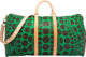 Louis Vuitton Limited Edition Green Dot Monogram Canvas Infinity Dots Keepall 55 Bag by Yayoi Kusama Pristine Condition...