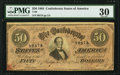 Confederate Notes:1864 Issues, T66 $50 1864 PF-11 Cr .500.. ...