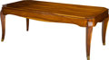 Furniture : Continental, A Biedermeier-Style Lacquered Wood Dining Table, 21st century. 30-1/2 h x 79 w x 39-1/2 d inches (77.5 x 200.7 x 100.3 cm). ...