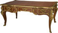Furniture : French, A Louis XV-Style Bureau Plat, late 20th century. 31 h x 69 w x36-1/4 d inches (78.7 x 175.3 x 92.1 cm). ...