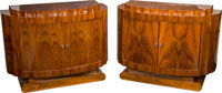 A Pair of Art Deco-Style Lacquered Console Cabinets, 21st century 34 h x 47-1/2 w x 19-1/2 d inches (86.4 x 120.7