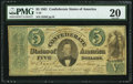 Confederate Notes:1861 Issues, T33 $5 1861 PF-7 Cr. 254Ba.. ...