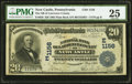 National Bank Notes:Pennsylvania, New Castle, PA - $20 1902 Plain Back Fr. 650 The NB of LawrenceCounty Ch. # (E)1156. ...