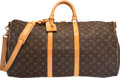 "Luxury Accessories:Travel/Trunks, Louis Vuitton Classic Monogram Canvas Keepall 55 Bandouliere Bag.Very Good Condition. 21"" Width x 12"" Height x 10""De..."