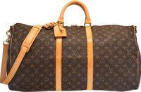 """Louis Vuitton Classic Monogram Canvas Keepall 55 Bandouliere Bag Very Good Condition 21"""" Width x"""