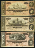Confederate Notes:1864 Issues, T67 $20 1864 (2);. T68 $10 1864.. ... (Total: 3 notes)