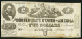 Confederate Notes:1862 Issues, T42 $2 1862 PF-5 Cr. 337. Very Fine.