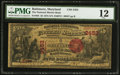 National Bank Notes:Maryland, Baltimore, MD - $5 1875 Fr. 404 The National Marine Bank Ch. #2453. ...