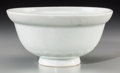 Asian:Chinese, A Chinese Incised White Glazed Porcelain Bowl with Everted Rim,Qing Dynasty, 19th century. 3 inches high x 6 inches diamete...