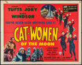 "Movie Posters:Science Fiction, Cat-Women of the Moon (Astor Pictures, 1954). Half Sheet (22"" X28""). Science Fiction.. ..."