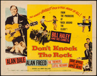 """Don't Knock the Rock (Columbia, 1957). Half Sheet (22"""" X 28"""") Style A. Rock and Roll"""