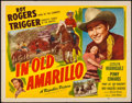 "Movie Posters:Western, In Old Amarillo & Other Lot (Republic, 1951). Half Sheet (22"" X 28"") & Lobby Card (11"" X 14""). Western.. ... (Total: 2 Items)"