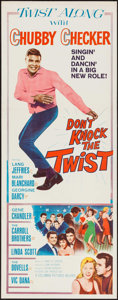 "Movie Posters:Rock and Roll, Don't Knock the Twist (Columbia, 1962). Insert (14"" X 36""). Rockand Roll.. ..."