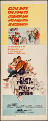 "Follow That Dream (United Artists, 1962). Insert (14"" X 36""). Elvis Presley"