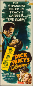"Movie Posters:Crime, Dick Tracy's Dilemma (RKO, 1947). Insert (14"" X 36""). Crime.. ..."