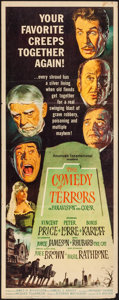 "Movie Posters:Horror, The Comedy of Terrors (American International, 1964). Insert (14"" X36""). Horror.. ..."