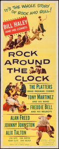 "Movie Posters:Rock and Roll, Rock Around the Clock (Columbia, 1956). Insert (14"" X 36""). Rockand Roll.. ..."