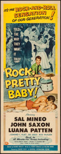 "Movie Posters:Rock and Roll, Rock, Pretty Baby (Universal International, 1957). Insert (14"" X36""). Rock and Roll.. ..."
