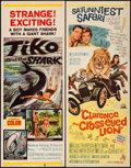 """Movie Posters:Drama, Tiko and the Shark & Others Lot (MGM, 1963). Inserts (4) (14"""" X36""""). Drama.. ... (Total: 4 Items)"""