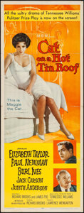 """Movie Posters:Drama, Cat on a Hot Tin Roof (MGM, 1958). Insert (14"""" X 36""""). Drama.. ..."""