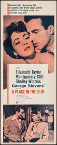 """Movie Posters:Drama, A Place in the Sun (Paramount, R-1959). Insert (14"""" X 36""""). Drama....."""