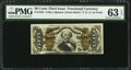 Fractional Currency:Third Issue, Fr. 1332 50¢ Third Issue Spinner PMG Choice Uncirculated 63 EPQ.. ...