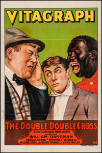 "The Double-Double Cross (Vitagraph, 1916). One Sheet (28"" X 41.75""). Comedy"