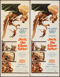 "Movie Posters:Fantasy, Jack the Giant Killer (United Artists, 1962). Inserts (2) Identical(14"" X 36""). Fantasy.. ... (Total: 2 Items)"