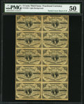 Fr. 1226 3¢ Third Issue Block of 10 PMG About Uncirculated 50