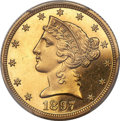 Proof Liberty Half Eagles, 1897 $5 -- Altered Surfaces -- PCGS Proof Genuine. Unc Details....