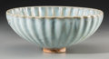 Other, A Large Chinese Jun-Type Earthenware Floriform Bowl, Song-Yuan Dynasty. 4-1/8 inches high x 10-1/4 inches diameter (10.5 x 2...