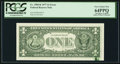 Error Notes:Ink Smears, Ink Smear on Back Error Fr. 1909-K $1 1977 Federal Reserve Note.PCGS Very Choice New 64PPQ.. ...