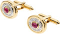 Estate Jewelry:Cufflinks, Ruby, Diamond, Gold Cuff Links. ...